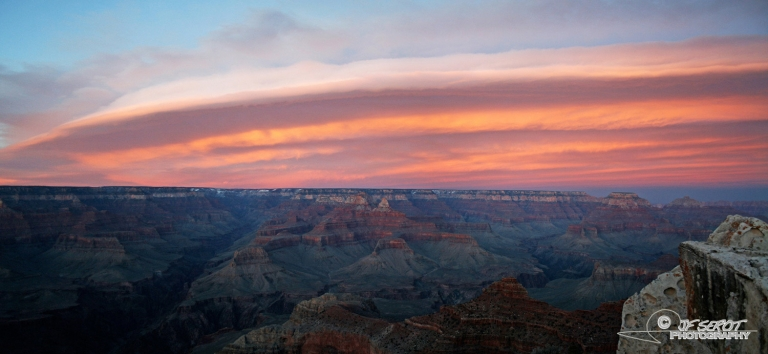Couché de soleil sur le Grand Canyon – Arizona