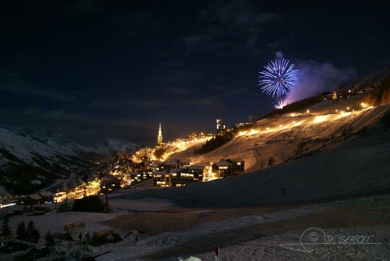Feu d'artifice en Savoie – France