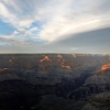 Couverture nuageuse sur le Grand Canyon – Arizona