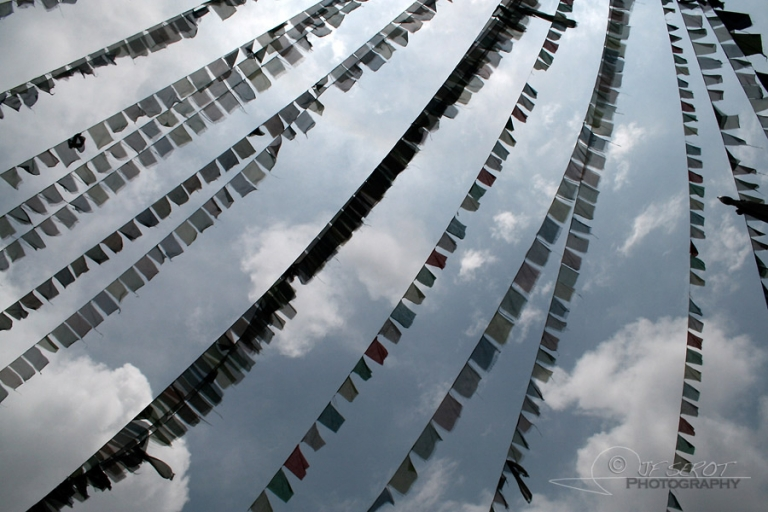 Drapeaux de prière, Katmandou – Népal
