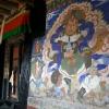 Fresque, Temple de Tiksé – Inde