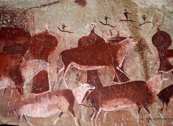 Peintures Bushmen, Drakensberg – Afrique du Sud