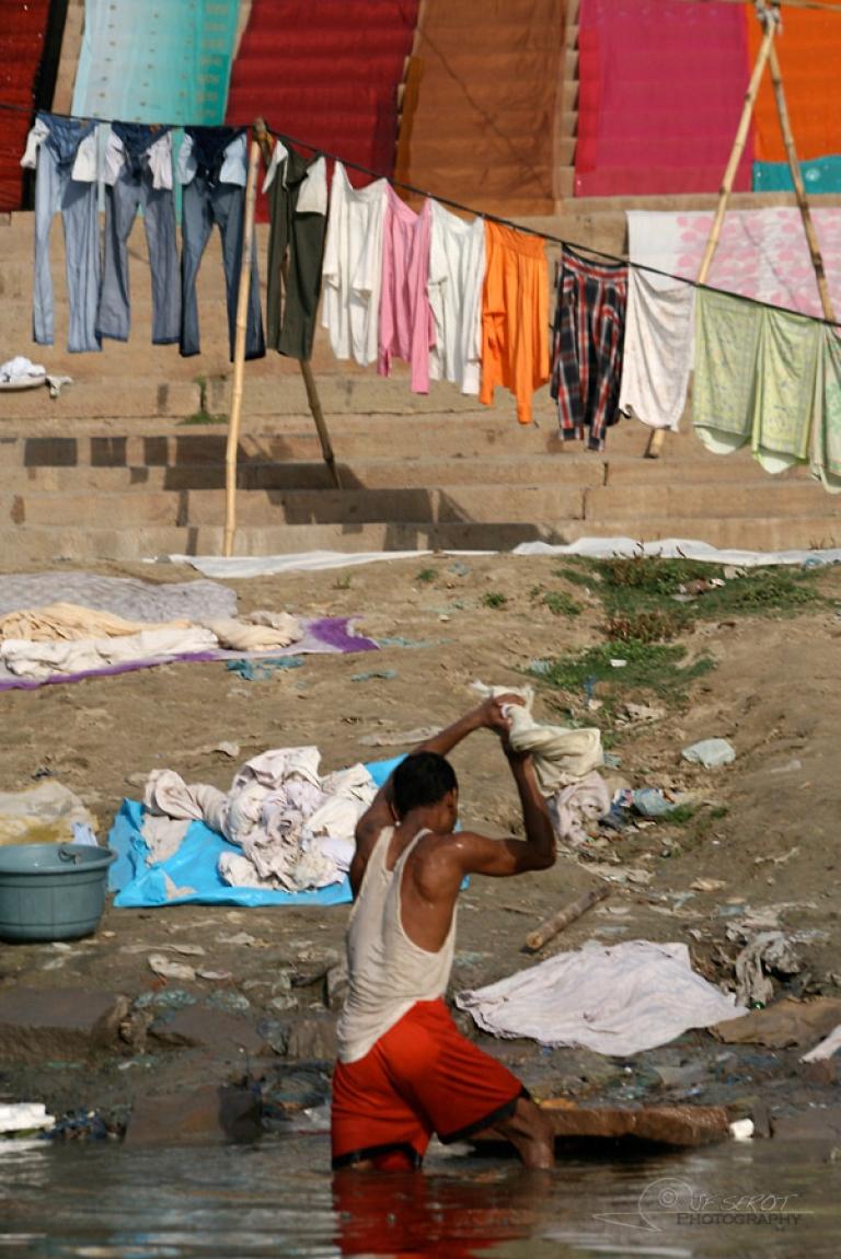 Homme à laver – Inde