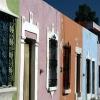 Façade colorée, Campeche – Mexique