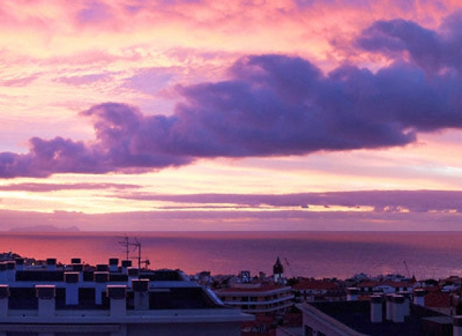 Couché de soleil sur Funchal – Portugal