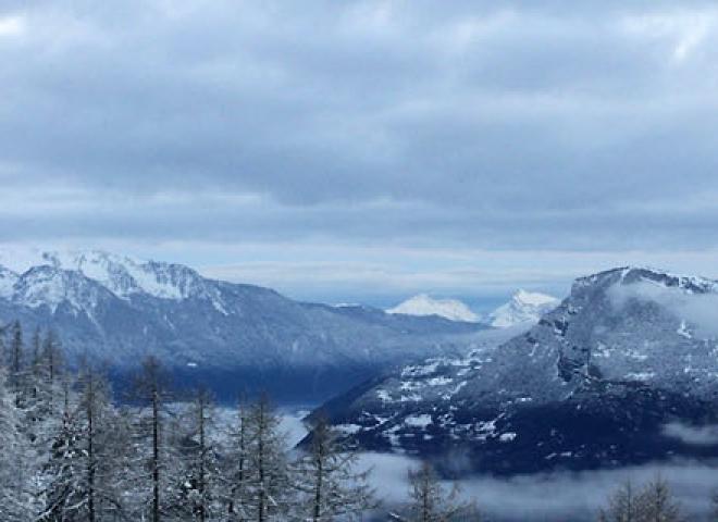 Réveil alpin sur Montricher – France