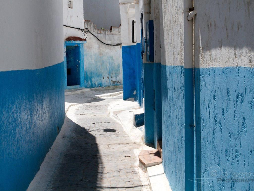 Ruelle au sein de la kasbah des Oudayas – Maroc