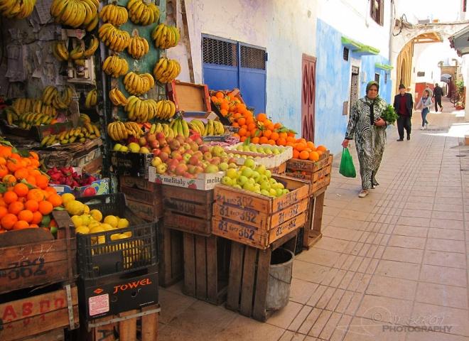 Etal du primeur, médina de Rabat – Maroc