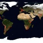Planisphère – (Vue satellite issue de la NASA)