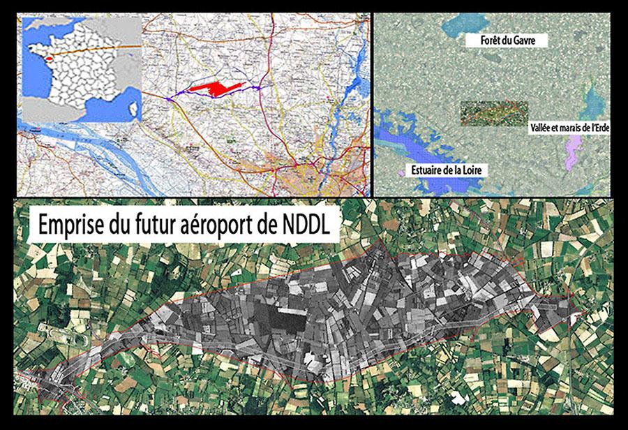 Aire d'emprise du futur aéroport de NDDL