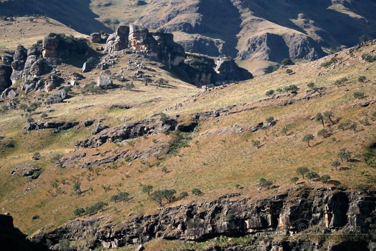 Versant de montagne, Drakensberg – Afrique du Sud