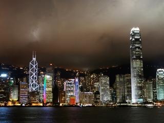 Hong Kong de nuit – Chine