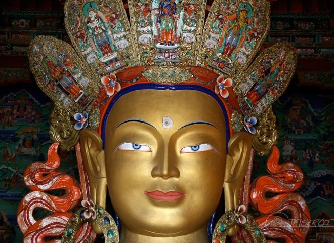 Bouddha, temple de Tiksé – Inde