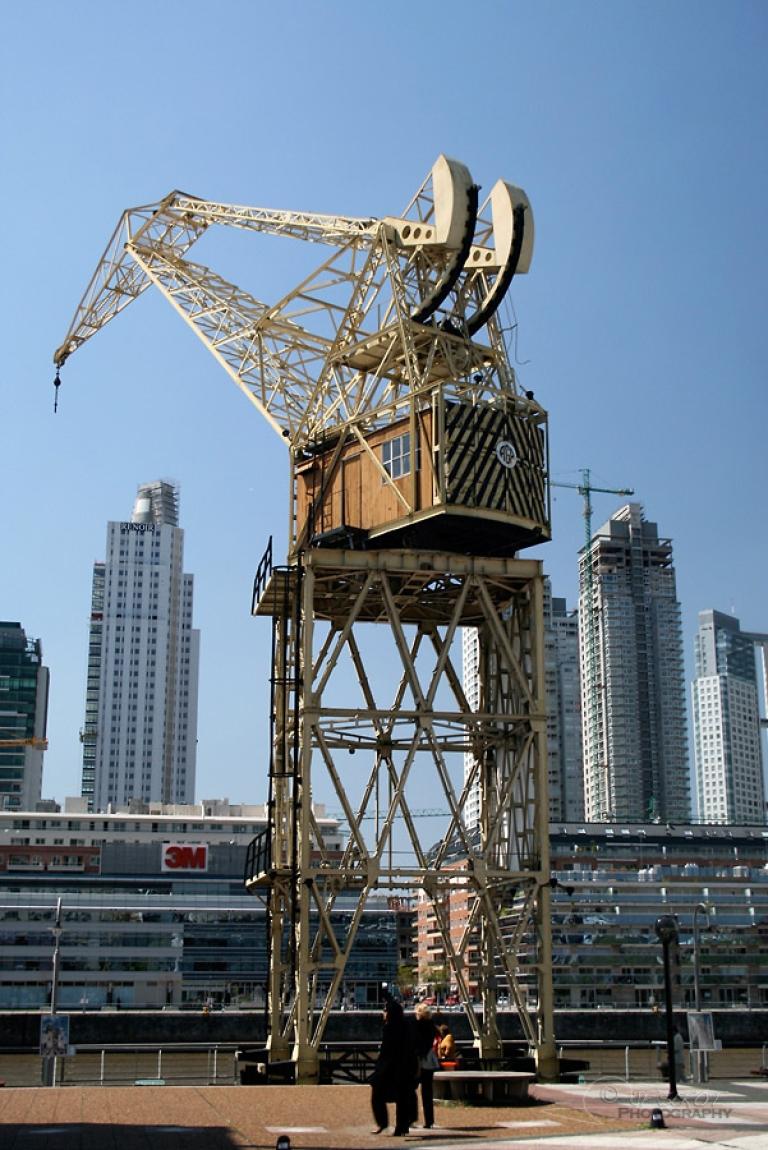 Ancienne grue de chantier naval, Buenos Aires – Argentine