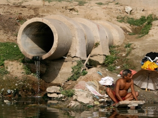 Lessive d'égout – Inde