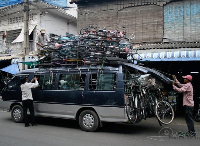 Combien de vélos voyez-vous ? – Cambodge