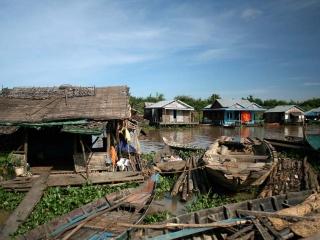 Rive du lac Tonlé Sap – Cambodge