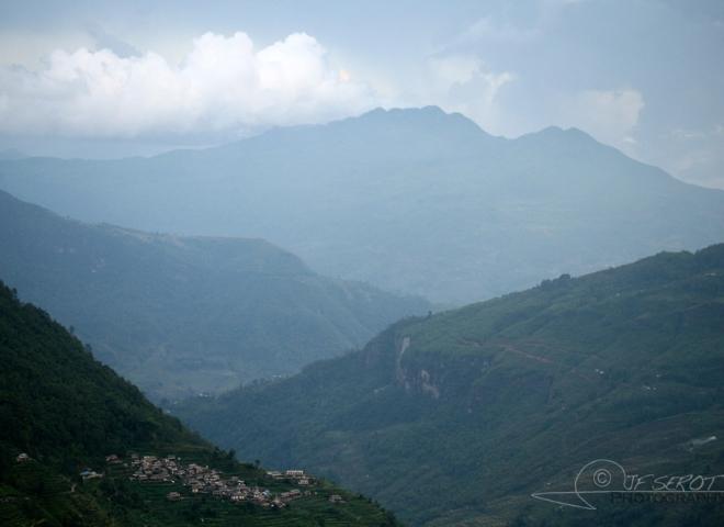 Village dans les Annapurnas, Himalaya – Népal
