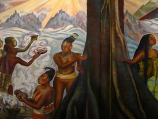Fresque Maya du musée national de Mexico – Mexique