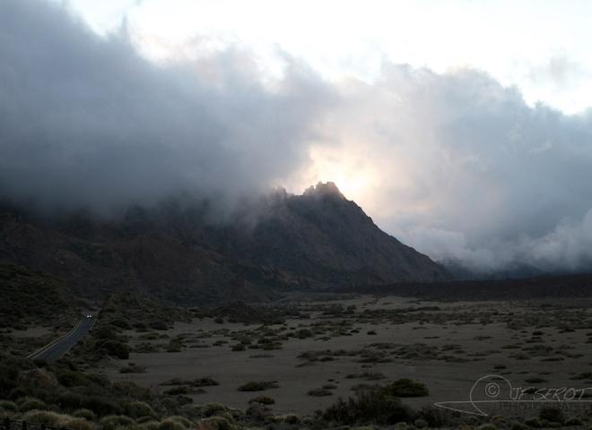 Couché de soleil sur le volcan Teide, Tenerife – Canaries