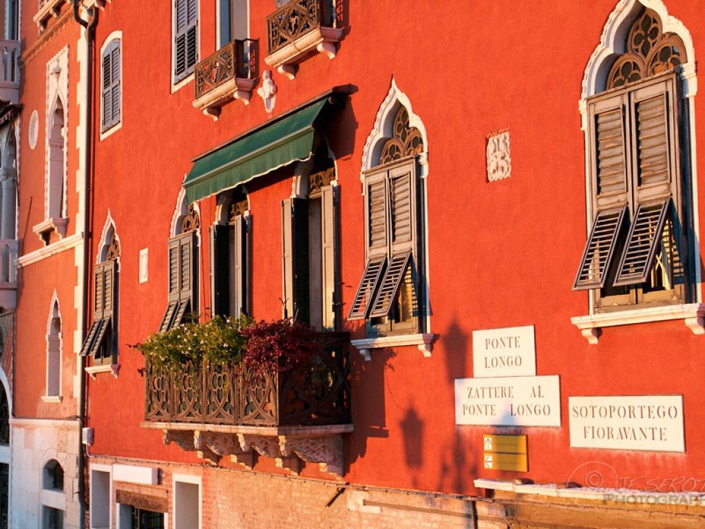 Façade colorée de Venise – Italie