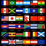Drapeaux des pays d'où sont issus les photos
